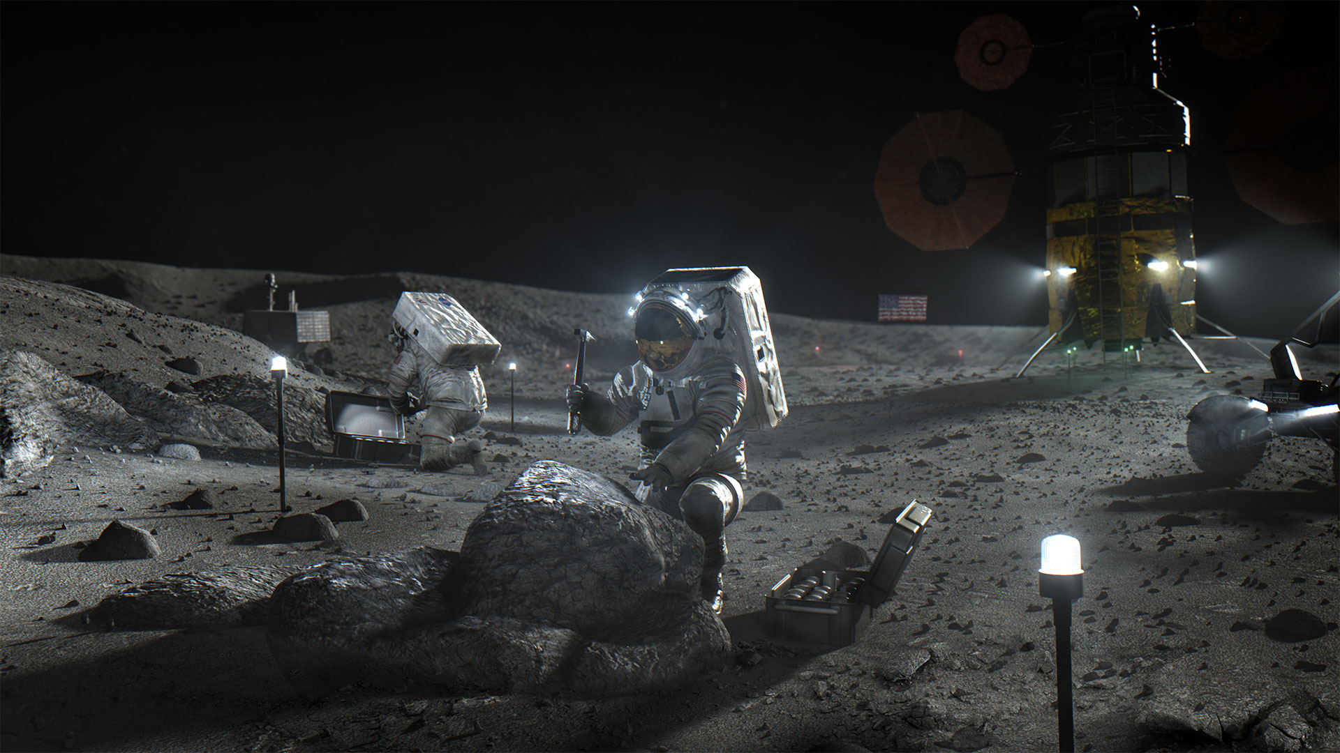 How to build a Moon base using local resources